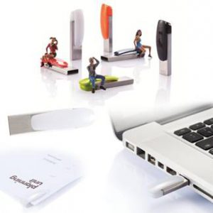 USB personalizable con clip