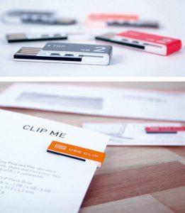 USB con forma de Clip
