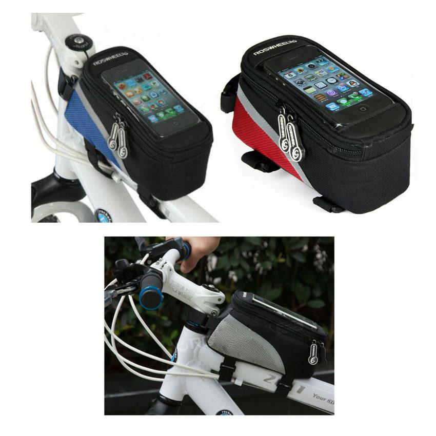 Bolsa para el móvil con velcros para la bicicleta.