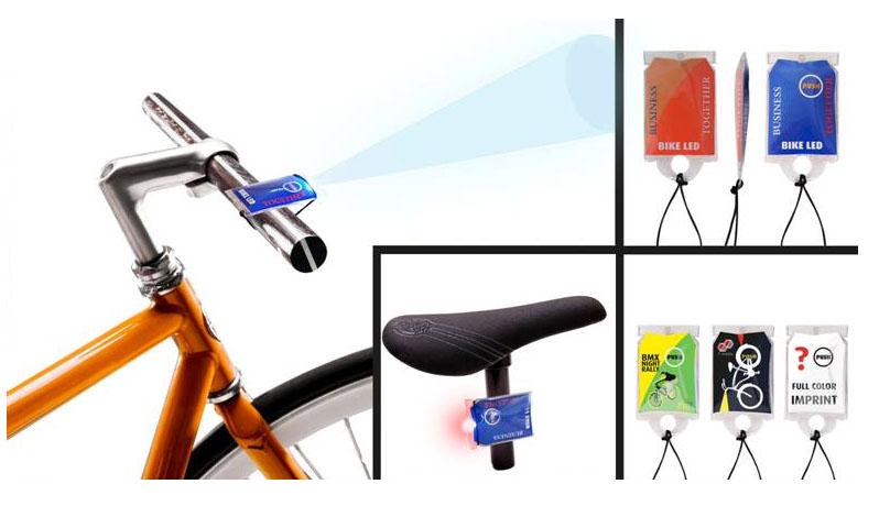 Luz para bicicleta personalizable.