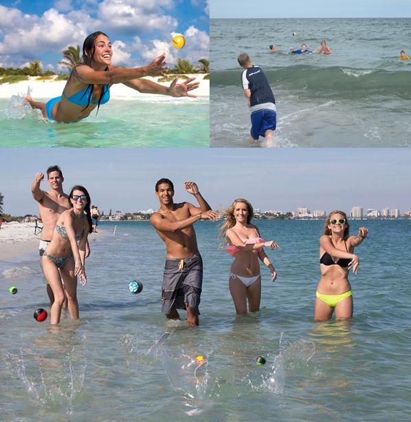 Disfruta con tus amigos jugando en playas, ríos, piscinas y cualquier lugar donde haya agua.