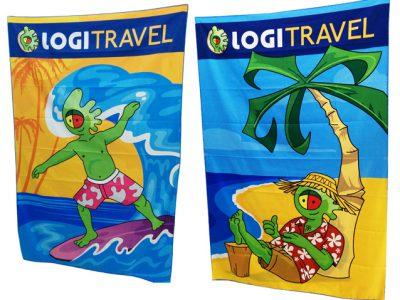Toallas de regalo promocional de Logitravel