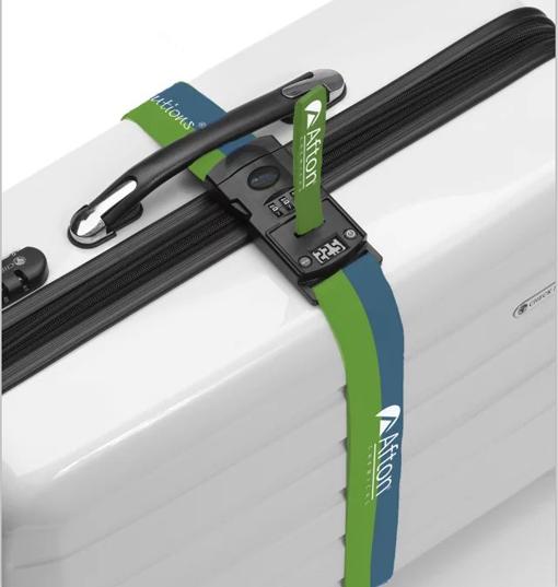 Cinta cierra maletas con báscula y candado TSA