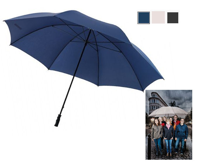 Enorme paraguas de 180 cm de diámetro con bastón y varillas de vidrio