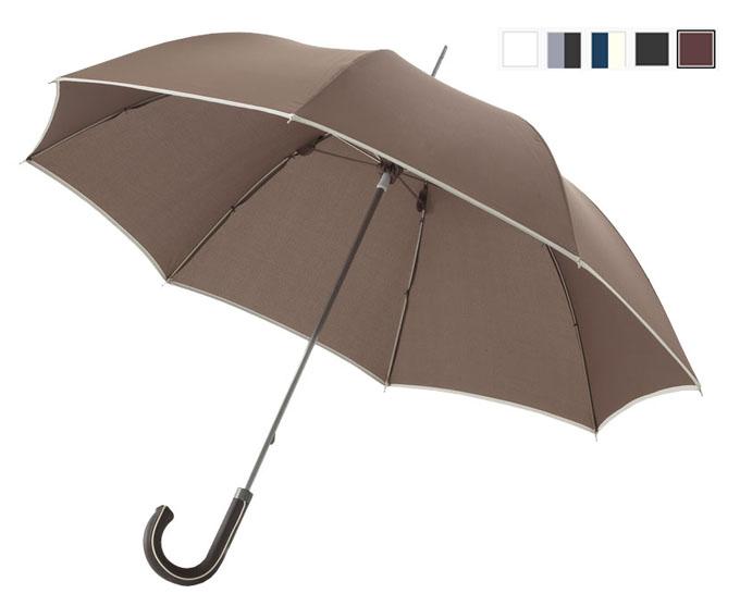 Paraguas clásico de 102 cm paraguas con diseño exclusivo y borde de contraste