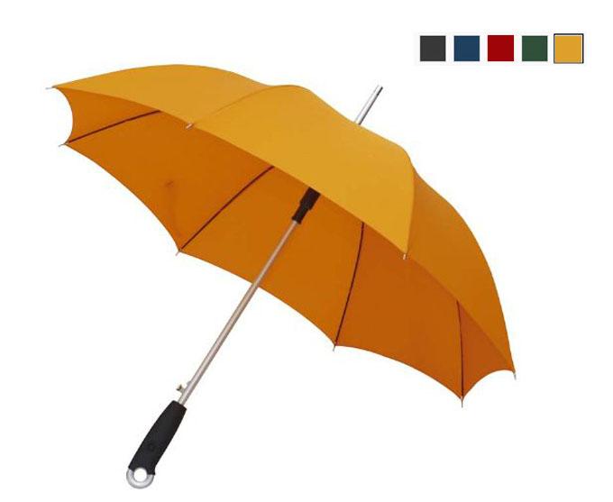 Paraguas de 101 cm con caña de aluminio y varillas de fibra de vidrio