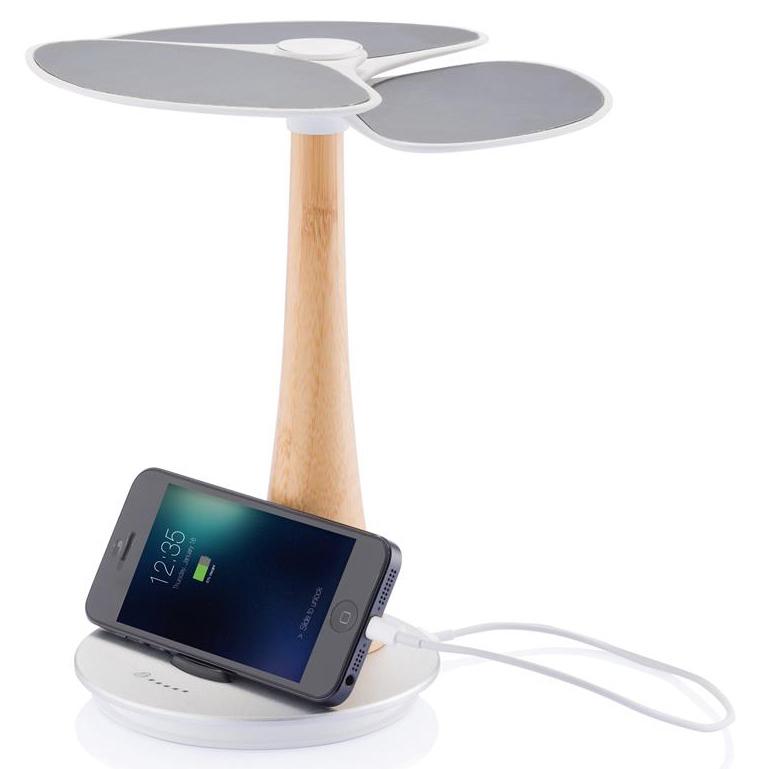 Cargador con forma de árbol y batería de litio recargable de 4000mAh para almacenar energía solar y el nivel de capacidad se muestra gracias a su pequeña luz LED. Este artículo está fabricado con materiales ecológicos.