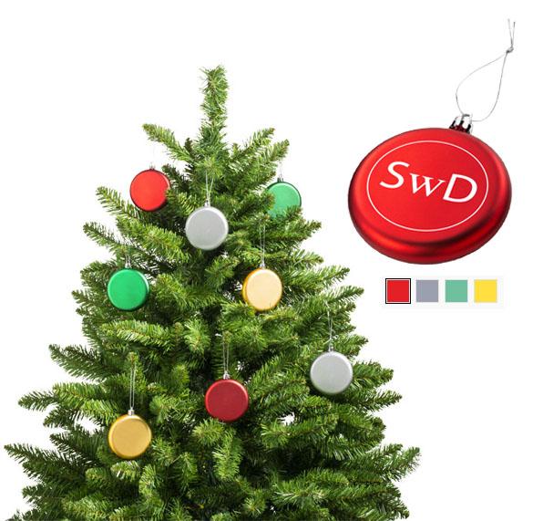 Artículo navideño para colgar del árbol de navidad totalmente plano para su personalización.