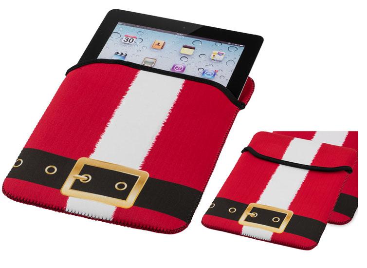 Funda de Tablet navideña para proteger contra arañazos y suciedad fabricada en neopreno.