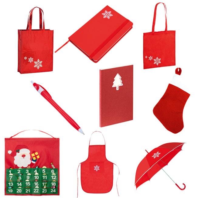 Bolsas, bloc de notas, bolígrafos, delantales, paraguas, calendarios, botas...Santa Claus is coming to Town!