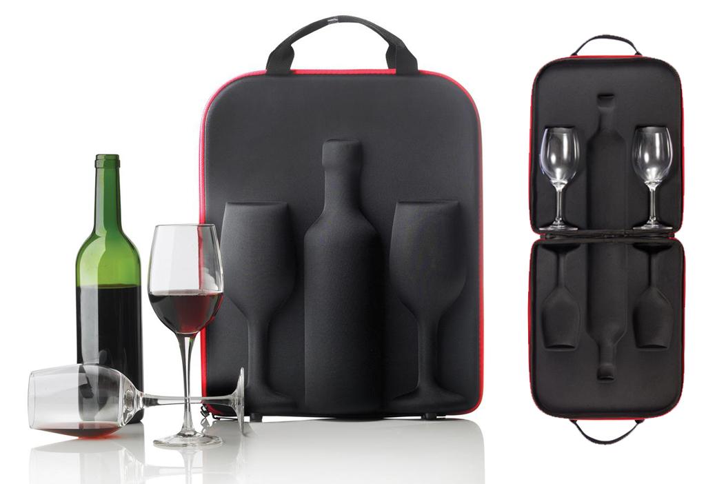 Estuche para el vino para transportarlo con facilidad.