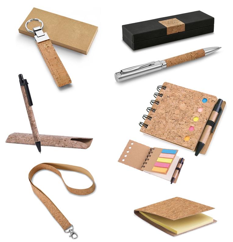 Merchandising y regalo promocional fabricado con corcho.