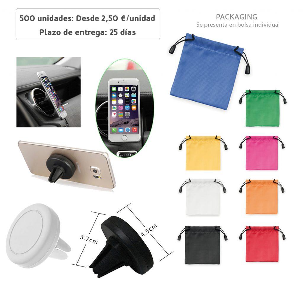 Precios desde 250 unidades en colores negro y blanco, con bolsa de color a elegir.
