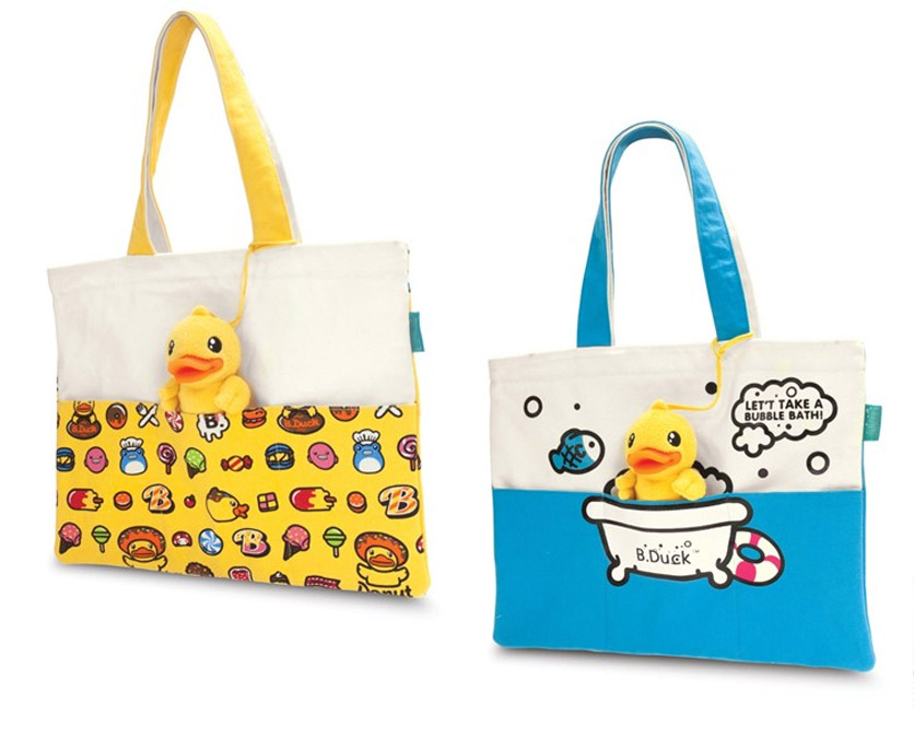 Bolsas customizadas con detalle en peluche con forma de animal.