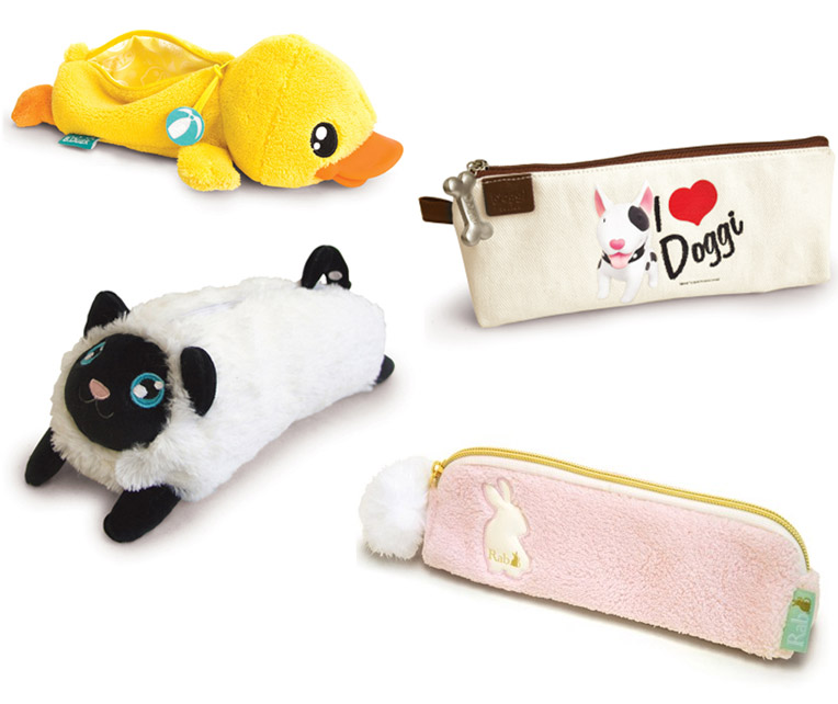 Estuches customizados con detalles de animal