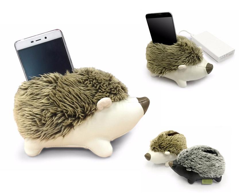 Soporte de móvil con forma de erizo