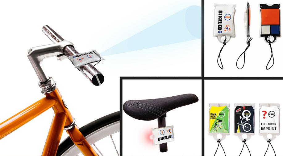 Linterna con luz LED para el manillar de la bicicleta con amplia zona de marcaje.