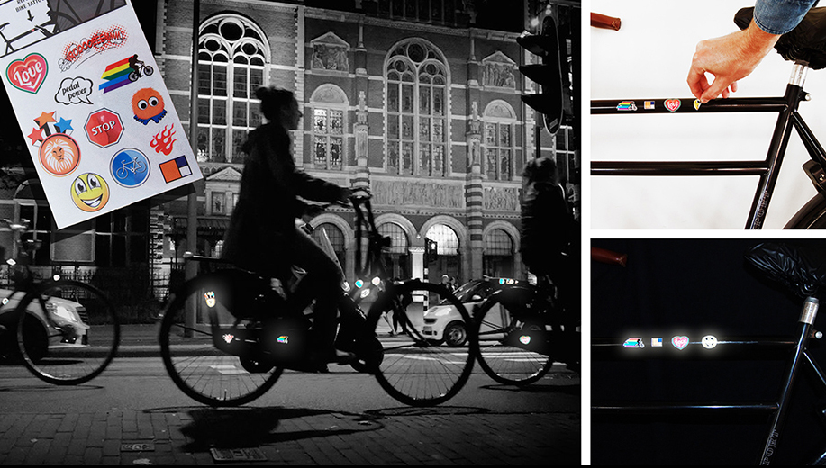 Pegatinas reflectantes para bicicleta totalmente personalizables.