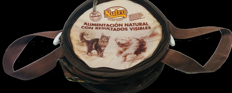 Bidón para comida de animales con merchandising