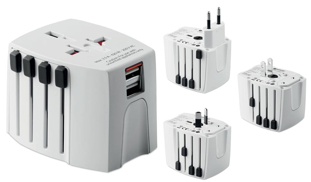 El adaptador SKROSS® Universal MUV USB es compacto y puede realizar varias funciones al mismo tiempo. Cargador Dual del USB