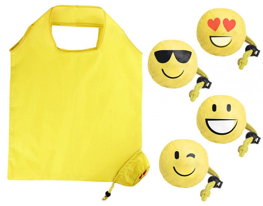 Bolsa plegable para la compra con 4 diseños diferentes
