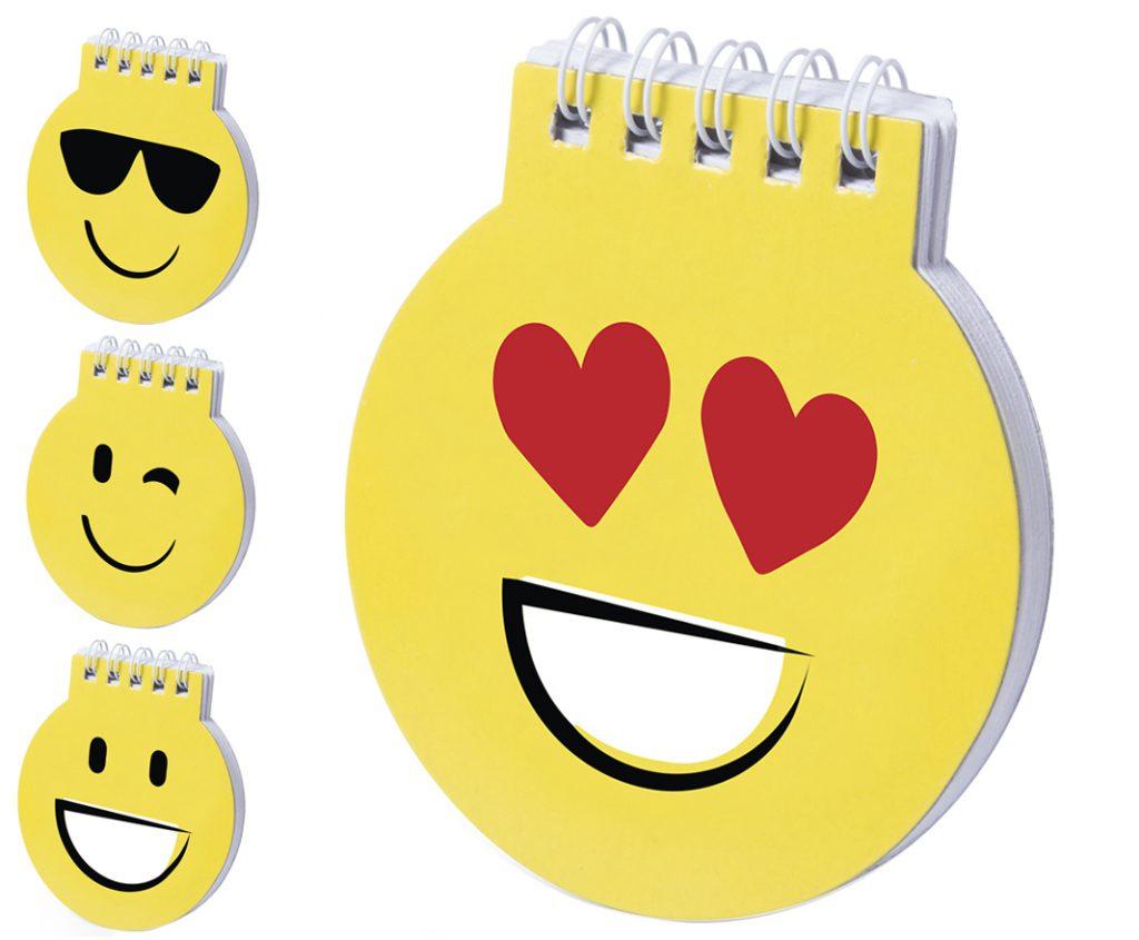 Libreta smile con 4 diseños diferentes