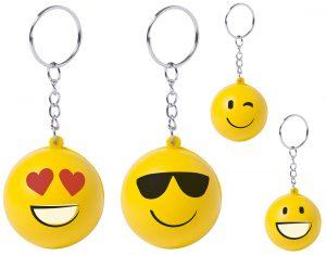 Divertido llavero smile con 4 diseños diferentes.