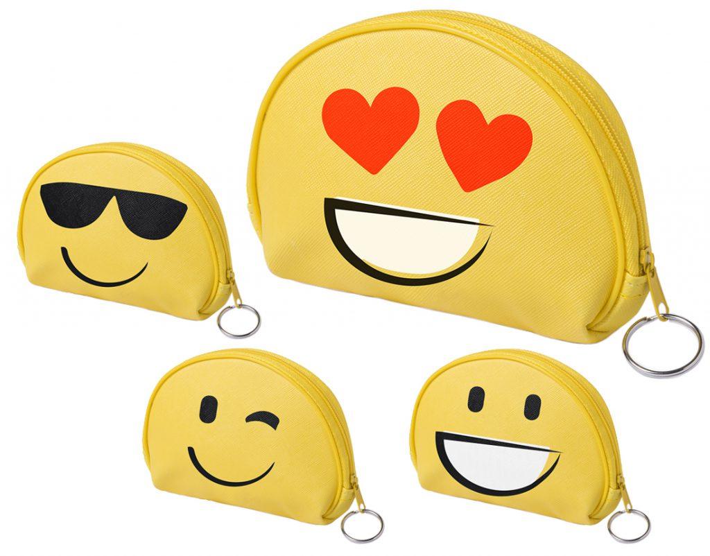 Monedero smile con 4 diseños diferentes
