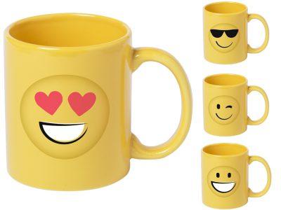 Taza de cerámica con 4 diseños diferentes para alegrarte el desayuno