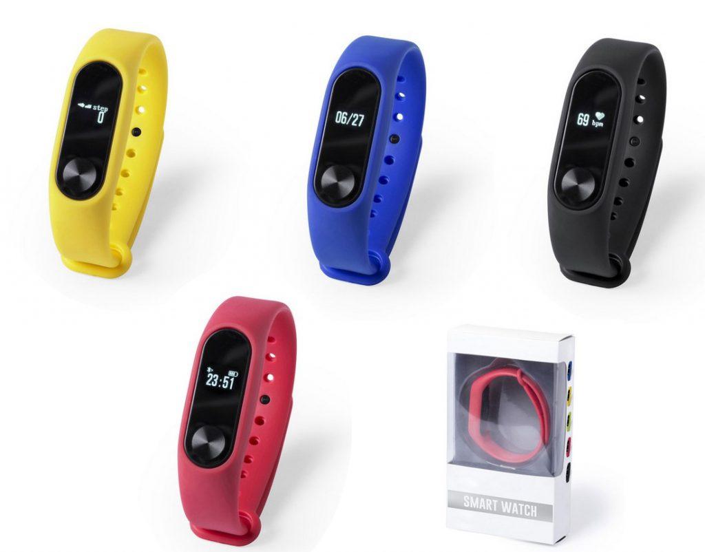 """Reloj inteligente con correa TPU Conexión Bluetooth. Pantalla LCD 0,42"""". Recargable USB. Cable Incluido"""