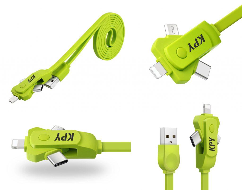 Cable de carga y sincronizador de datos de 1 metro de longitud válido para Android, iPhone y tipo C