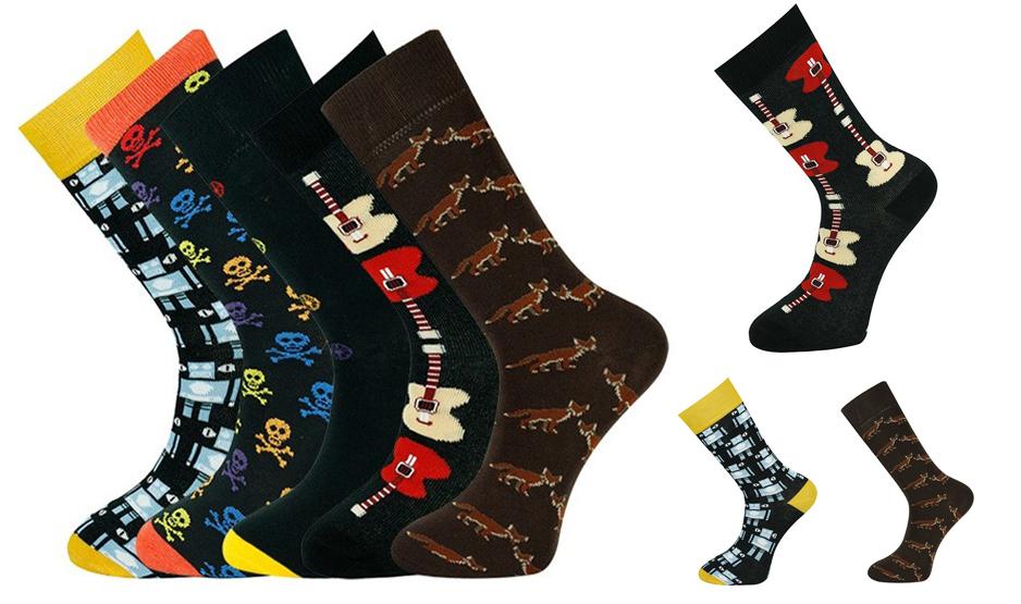 Calcetines personalizados de vestir con diseño a todo color.