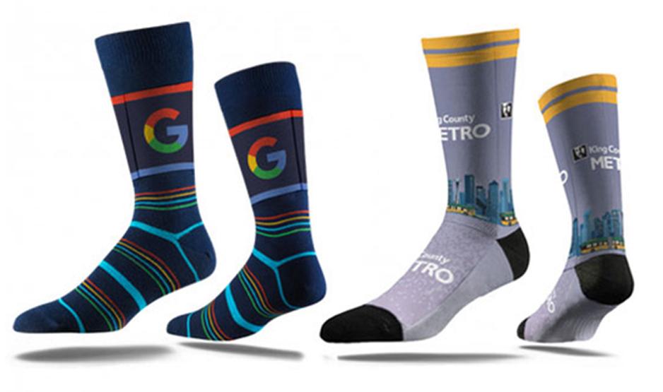 Calcetines personalizados con diseño de tu empresa.