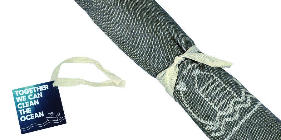 Toalla reciclada gris oscura
