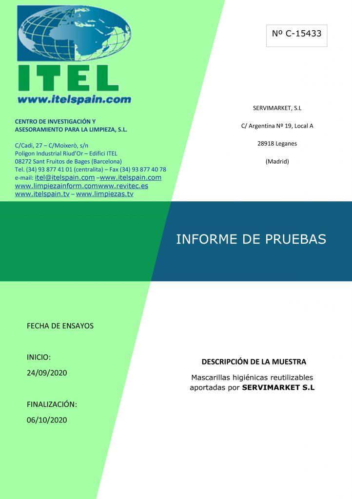 INFORME DE PRUEBAS SERVIMARKET