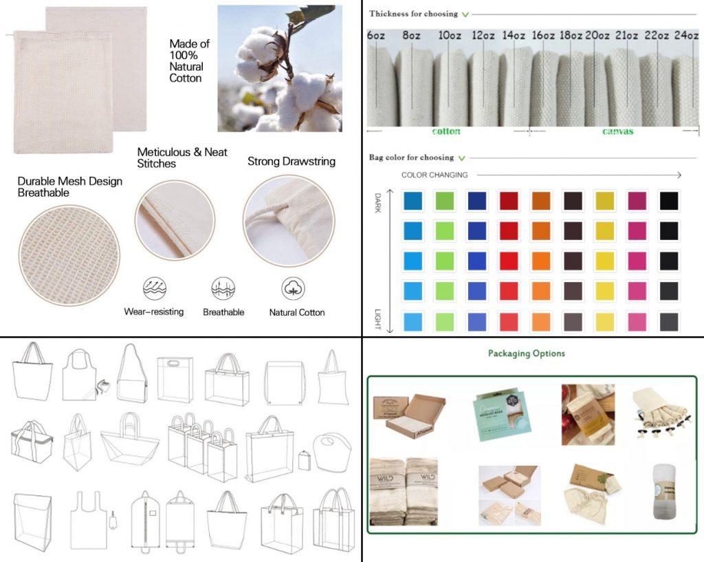crea tu bolsas personalizadas de algodón