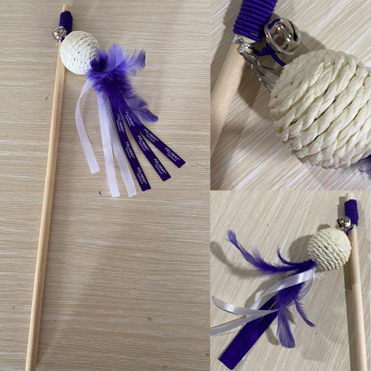 merchandising gato juguete de plumas