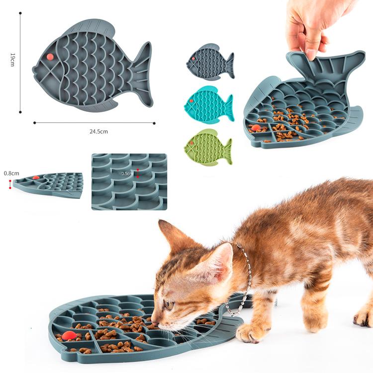 merchandising gato comedor portatil